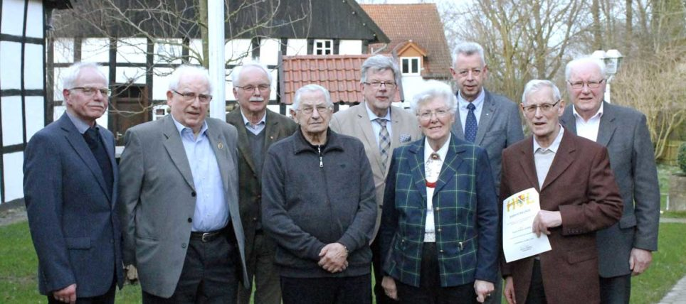 Der Heimatverein ehrt langjährige Mitglieder 2020